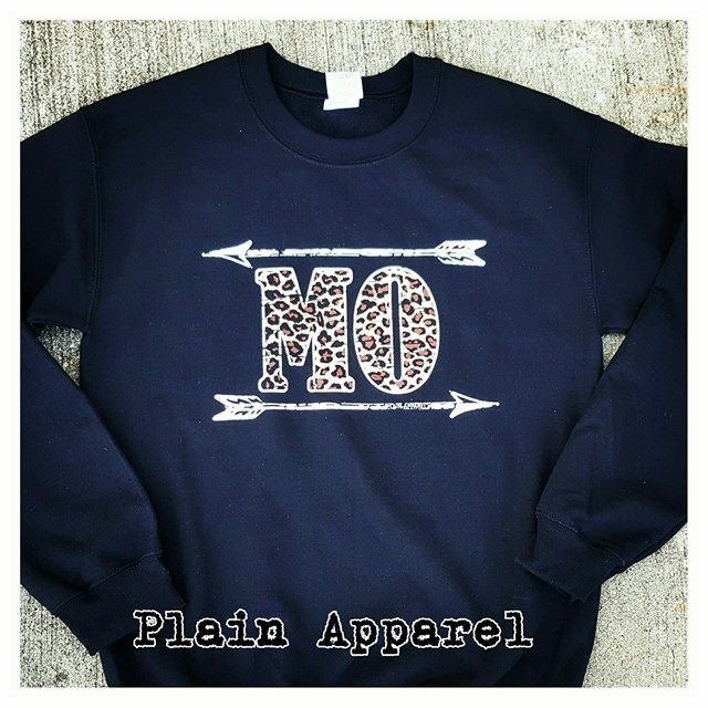 Leopard MO Arrow Sweatshirt