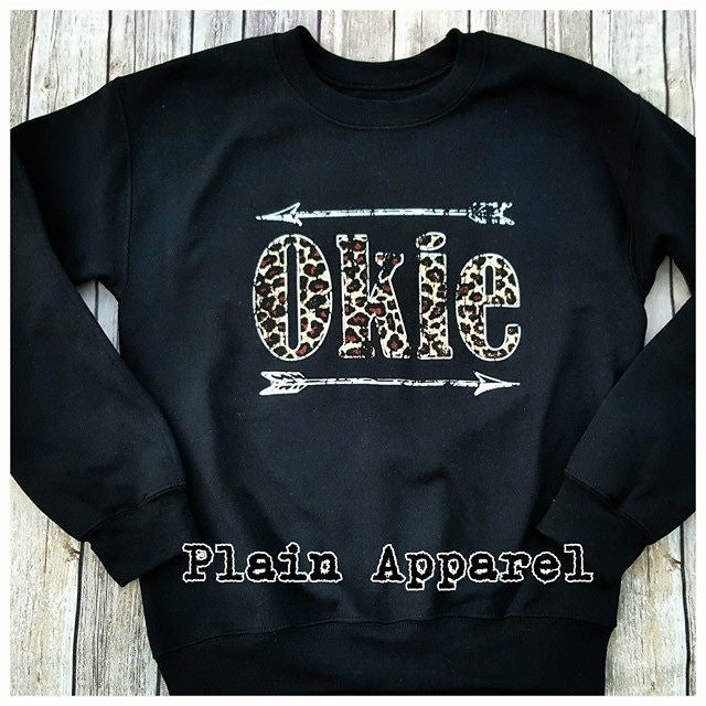 Leopard Okie Arrow Sweatshirt