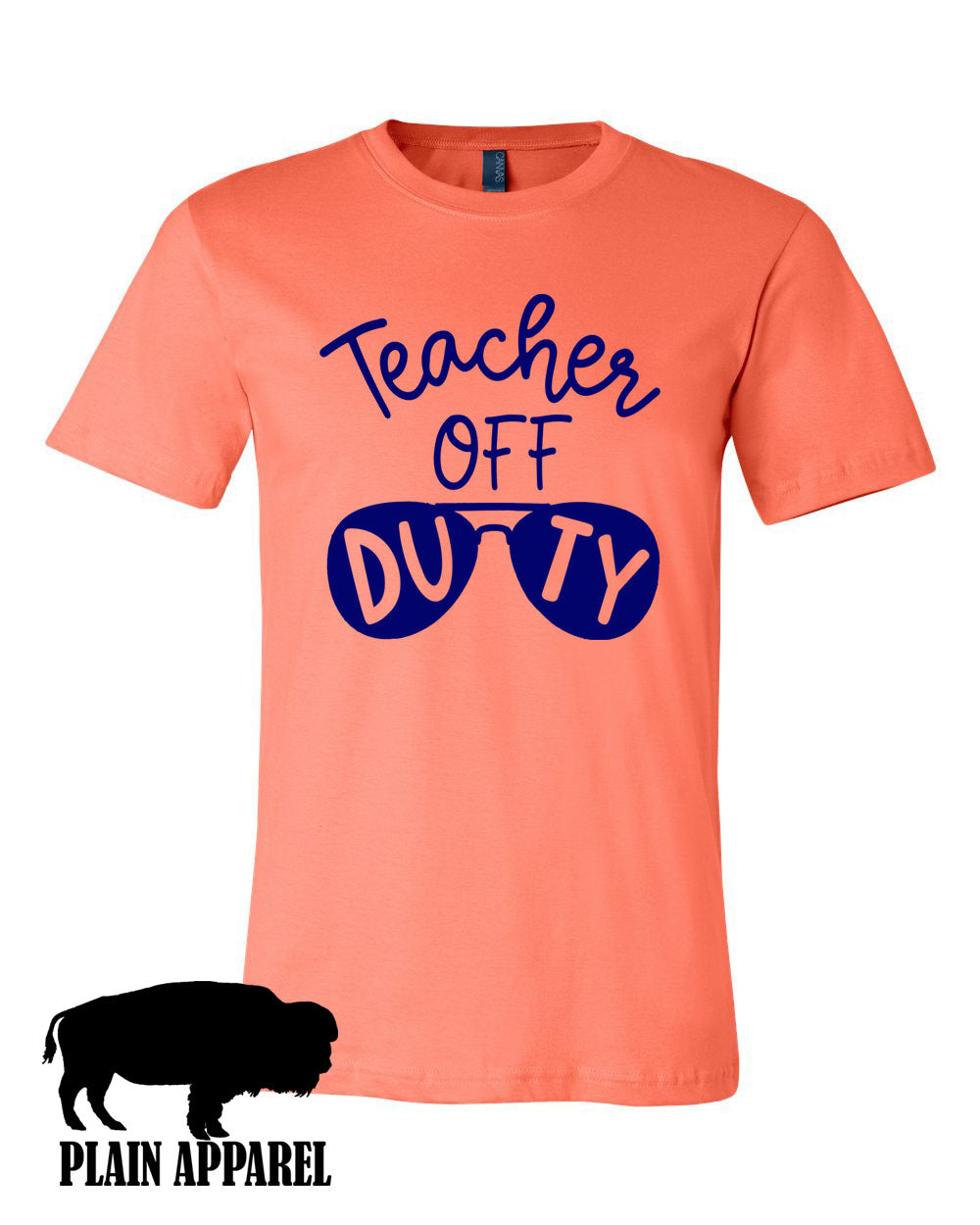 Teacher Off Duty Crew Tee - Bless UR Heart Boutique