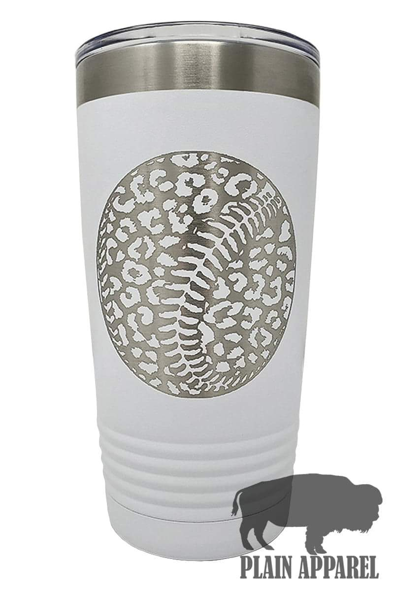 Leopard Baseball Engraved Tumbler - Bless UR Heart Boutique