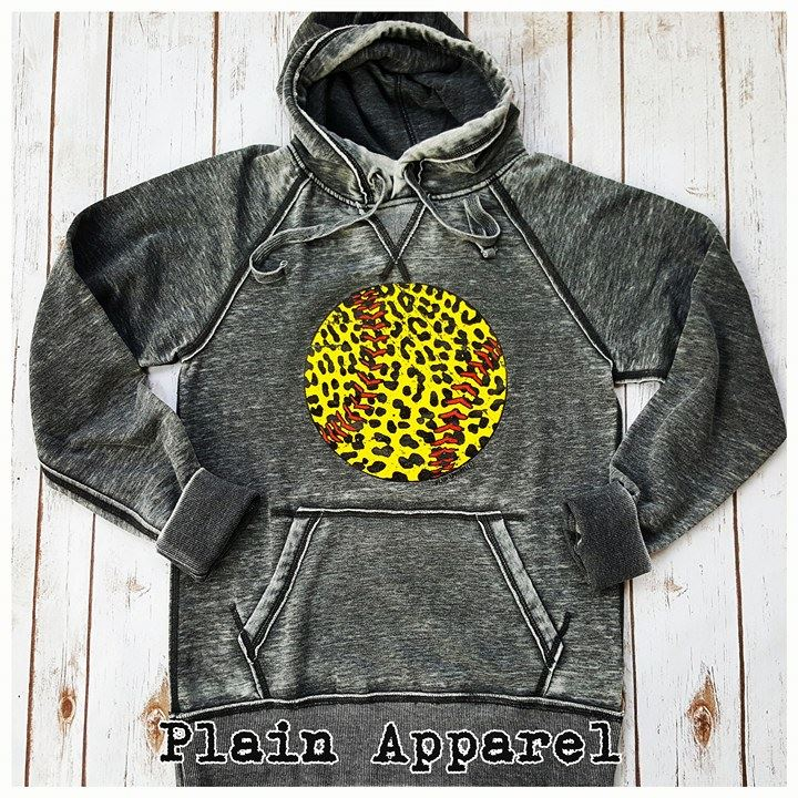Softball Leopard Hoodie - Bless UR Heart Boutique