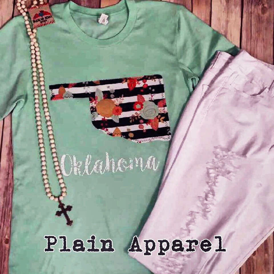 Spring Fling Oklahoma Crew Top - Bless UR Heart Boutique