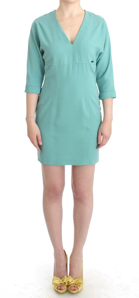 Green 3/4 sleeved sheath dress