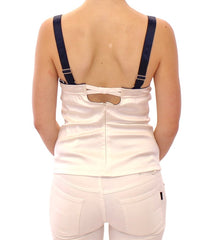White sailor motive tank top