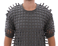 Gray Runway Catwalk Nets Knitted Sweater