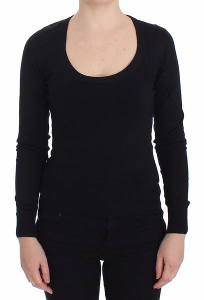 Black Cashmere Crewneck Sweater Pullover