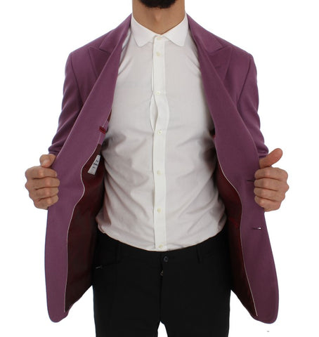 Purple Cashmere Slim Fit Blazer Jacket