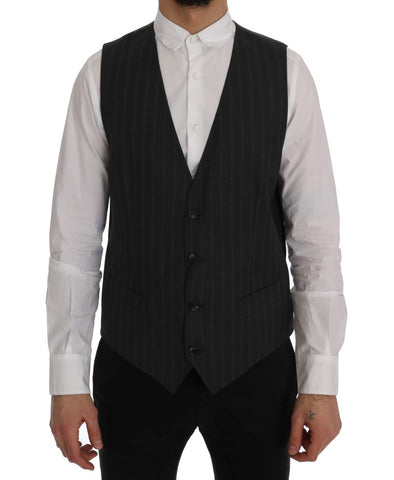 Gray STAFF Wool Stretch Vest