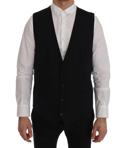 Black STAFF Wool Stretch Vest