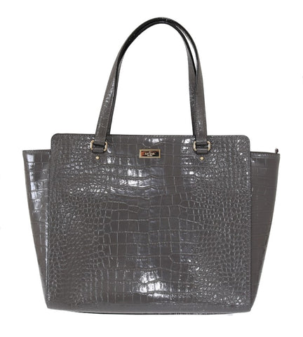 Gray Bristol Drive Croc ELISSA Shoulder Bag