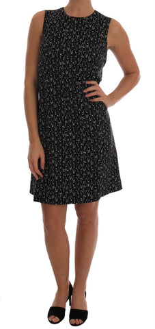 Black Wool Above Knee Dress
