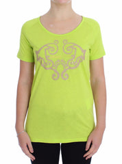 Yellow Crew-neck Studded T-shirt