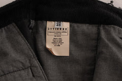 Black Corduroy Cotton Straight Fit Pants