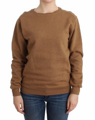 Brown Crewneck Cotton Sweater