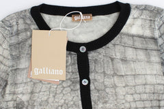 Gray crocodile twinset cardigan