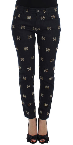 Blue Key Embroidered Slim Fit KATE Jeans