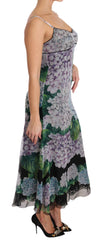 Multicolor Hortensia Silk Shift Calf Length Dress