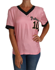Pink Silk Crystal PALERMO Top T-shirt