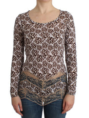 Brown longsleeved lace top