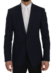 Blue MARTINI Slim Fit Wool Blazer Jacket