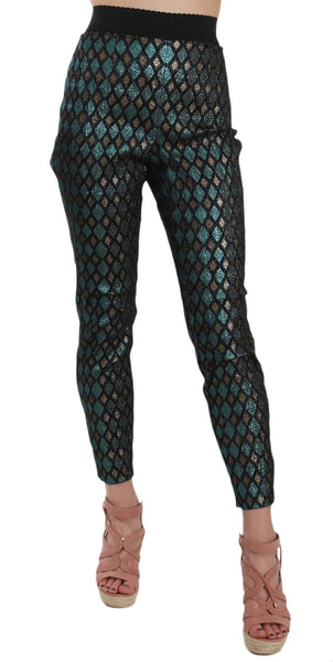 Diamond Pattern Jacquard Trouser Pants