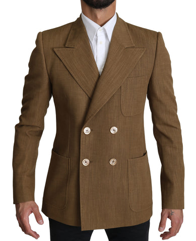 Wool Brown Formal Slim fit Jacket Blazer