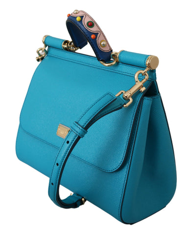 Blue Cross Body Shoulder Borse SICILY Leather Bag