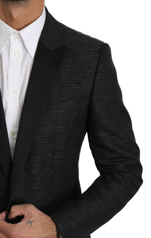 Black Slim Fit One Piece Jacket MARTINI Blazer