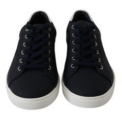Blue Leather DG Logo Shoes Mens Sneakers