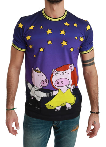 Purple  Cotton Top 2019 Year of the Pig  T-shirt