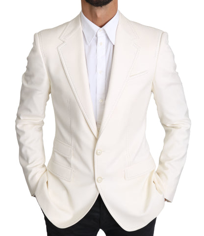 White Formal Wool Jacket SICILIA  Blazer