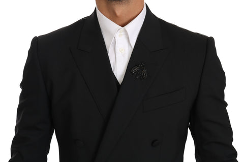 Black Wool Stretch Crystal MARTINI Blazer