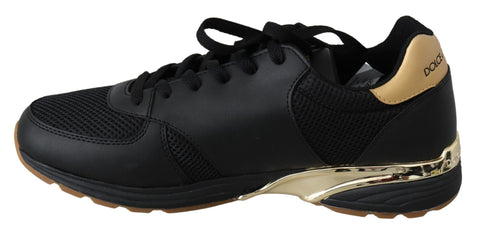 Black Leather Action Athletic Mens Sneakers Shoes