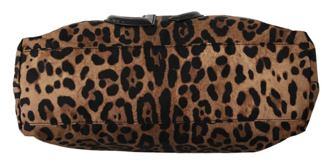 Brown Leopard #DG Shoulder Women Tote INSTABAG