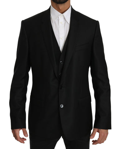 Black Two Piece Vest MARTINI  Blazer Jacket