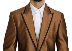 Brown Silk MARTINI Jacket Coat Blazer
