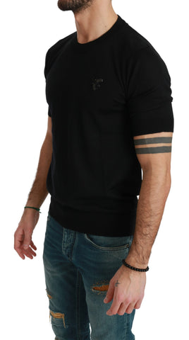 Black Bee Embellished Mens Top  Cashmere T-shirt