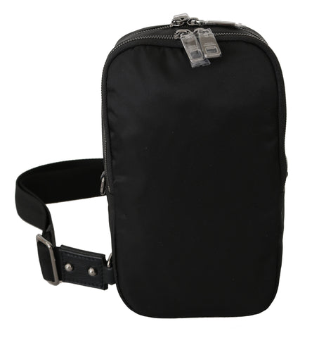 Black Nylon Men Messenger Strap Crossbody Borse Bag