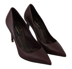Pumps Stilettos Bordeaux Leather Heels Shoes