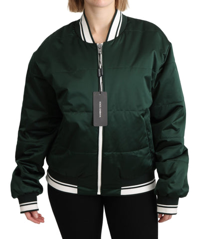 Green #DGMillennials Full Zip Bomber Jacket