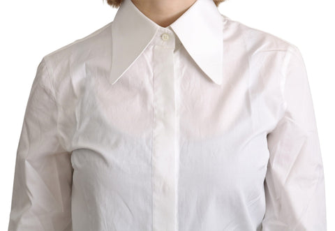 White Collared Formal Dress Cotton Top