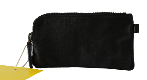 Black Genuine Leather Continental Men Clutch Wallet
