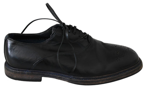 Black Leather Derby Dress Formal Shoes