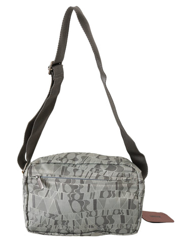 Gray Printed Shoulder Sling Purse Crossbody Fabric  Bag