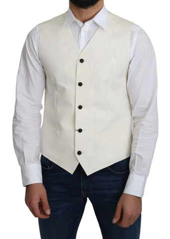 Off-White 100% Silk Formal Coat Vest