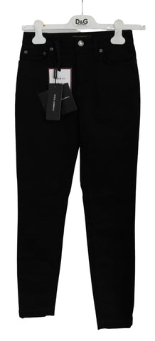 Black Skinny Trouser Cotton Stretch Jeans