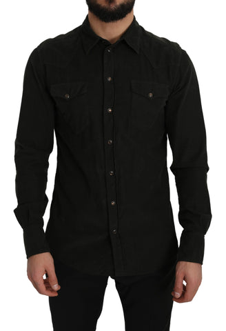 Black Manchester Cotton Sicilia Casual Shirt