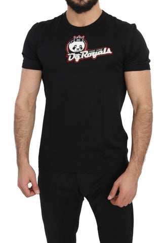 Black DG Royals Panda 100% Cotton T-Shirt
