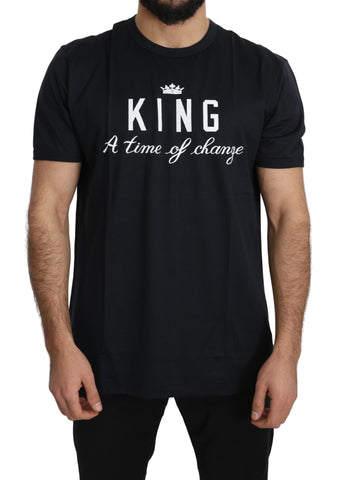 Black DG KING Top 100% Cotton T-Shirt