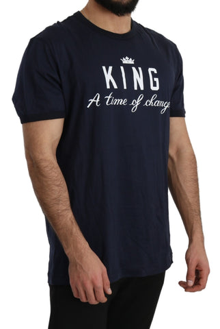 Blue DG KING Top 100% Cotton T-Shirt